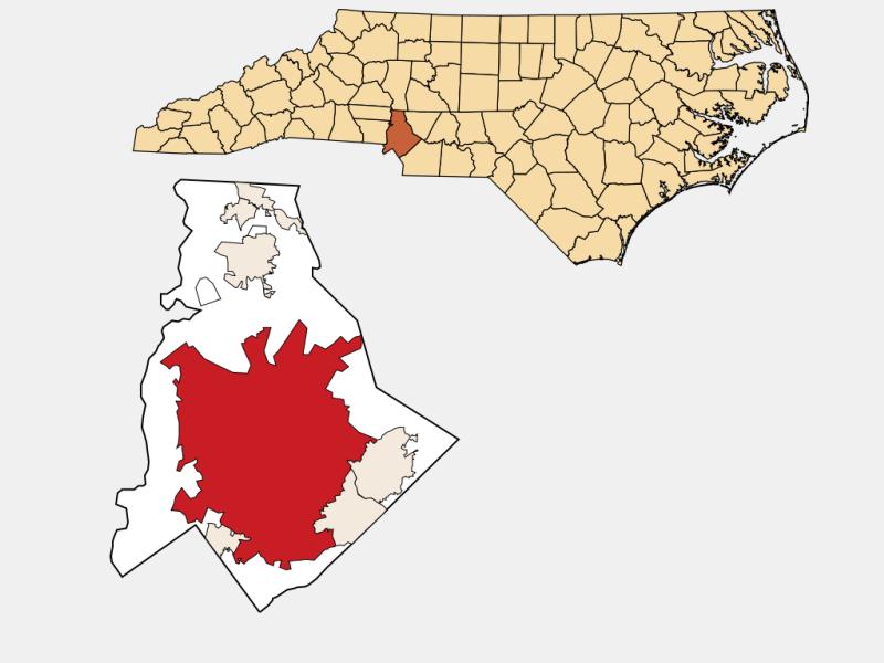 Charlotte locator map