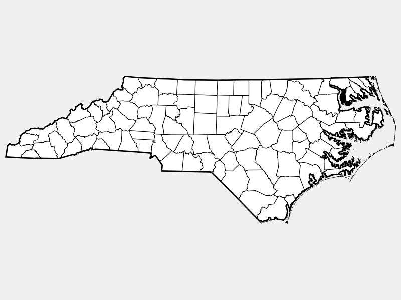 Chowan County locator map