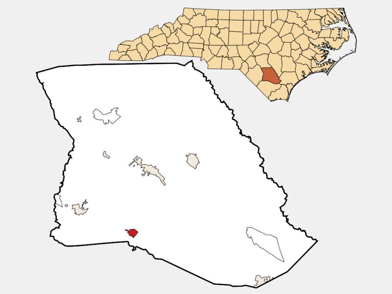 Clarkton locator map