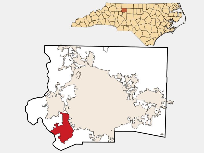Clemmons locator map