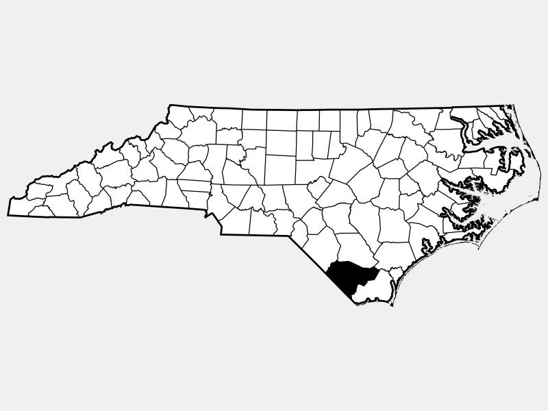 Columbus County locator map