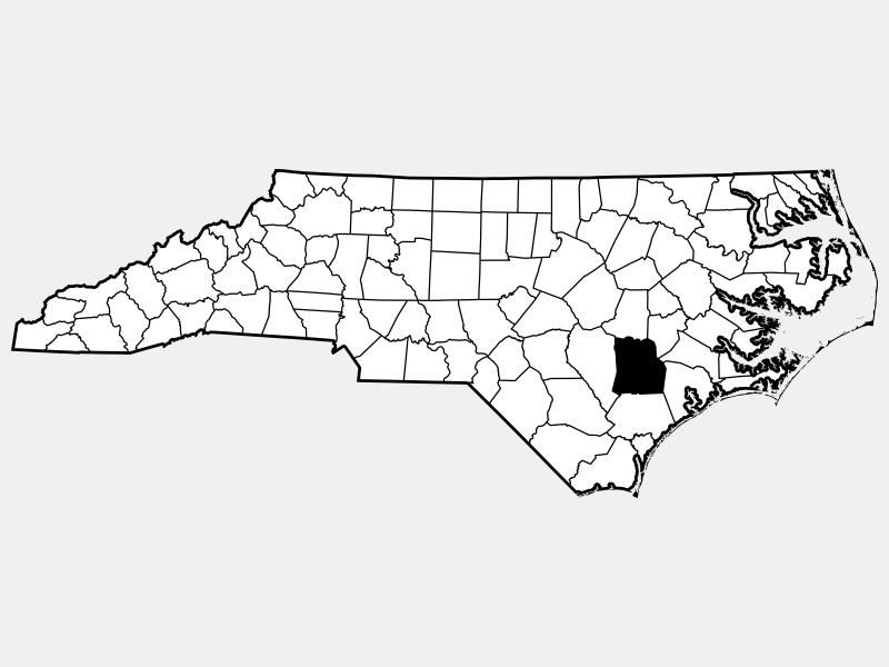 Duplin County locator map