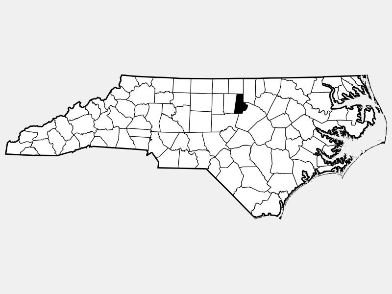 Durham County locator map