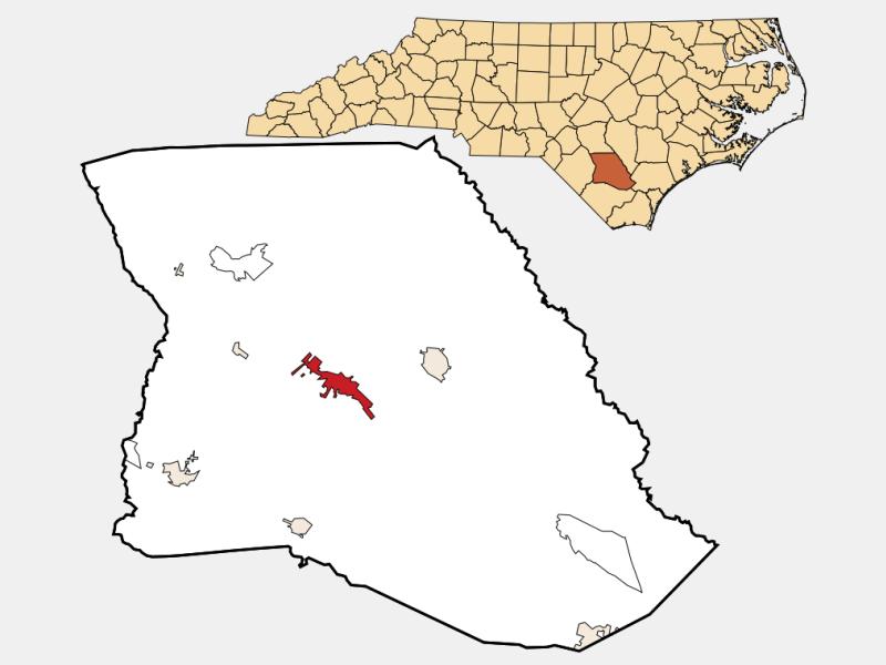 Elizabethtown locator map