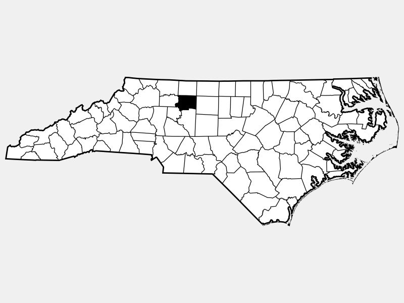 Forsyth County locator map