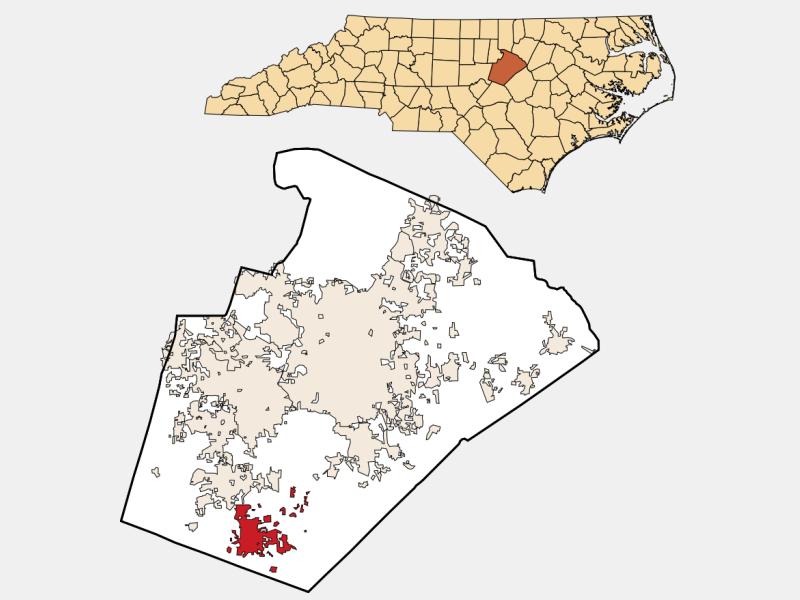 Fuquay-Varina location map
