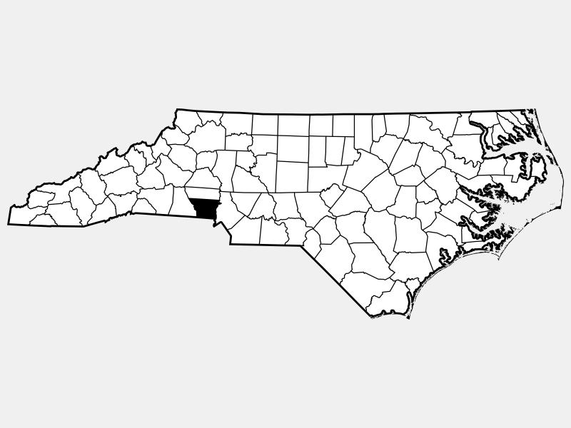 Gaston County locator map