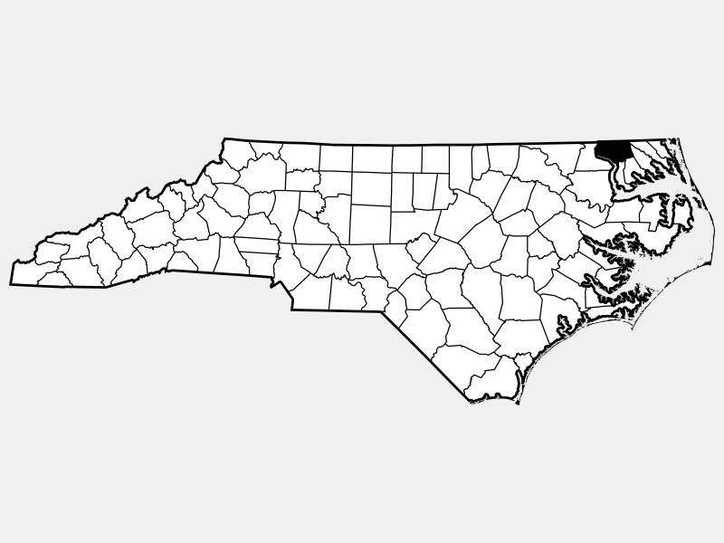 Gates County locator map