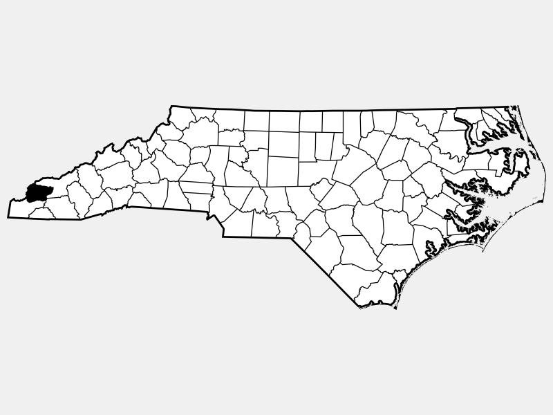 Graham County location map
