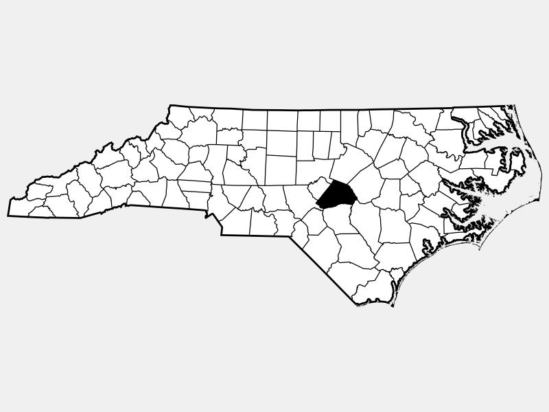 Harnett County locator map
