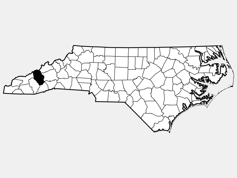 Haywood County locator map