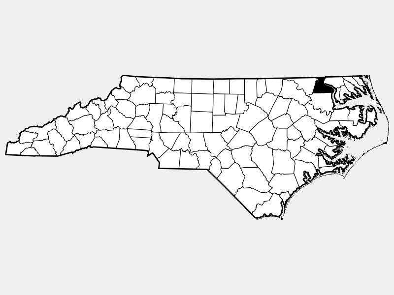 Hertford County locator map
