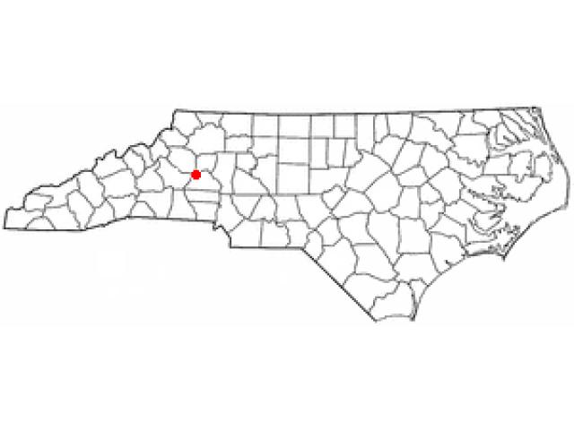 Hickory locator map