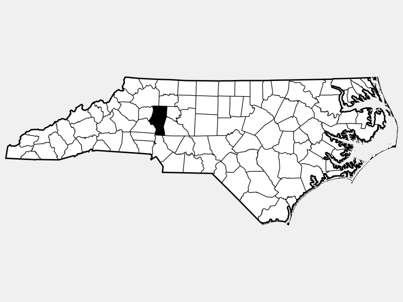 Iredell County locator map