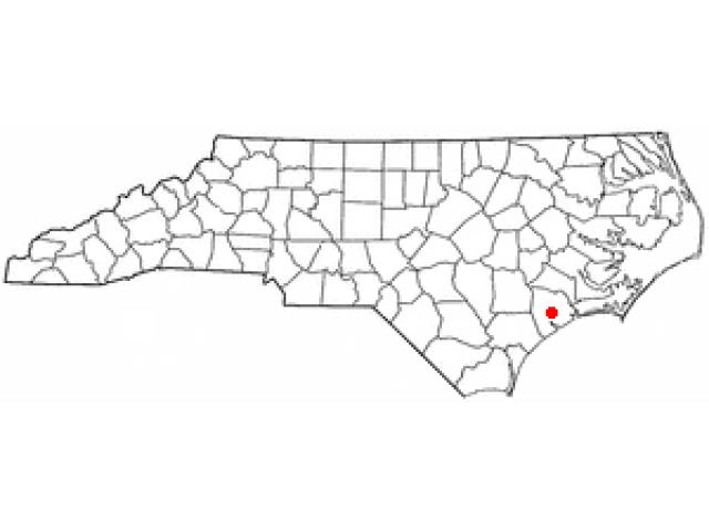 Jacksonville locator map