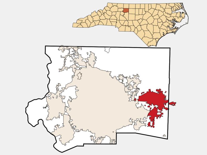 Kernersville locator map