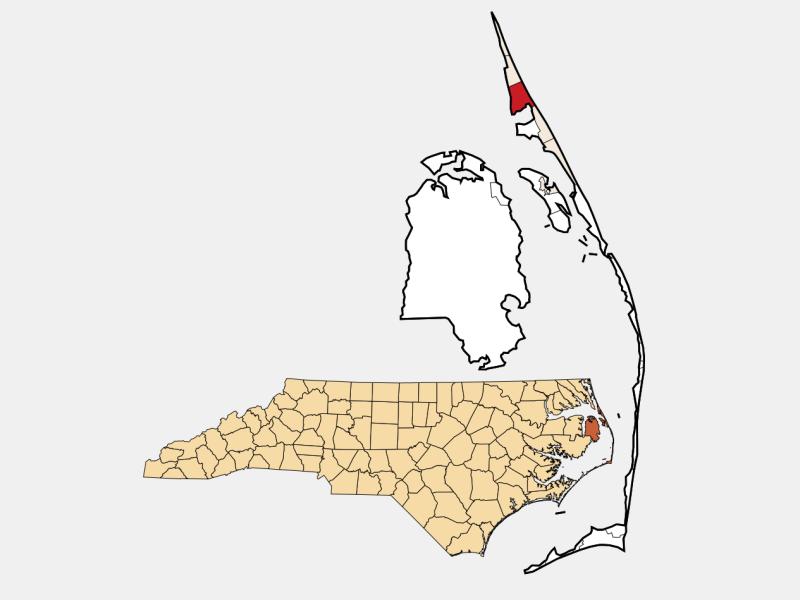 Kitty Hawk locator map
