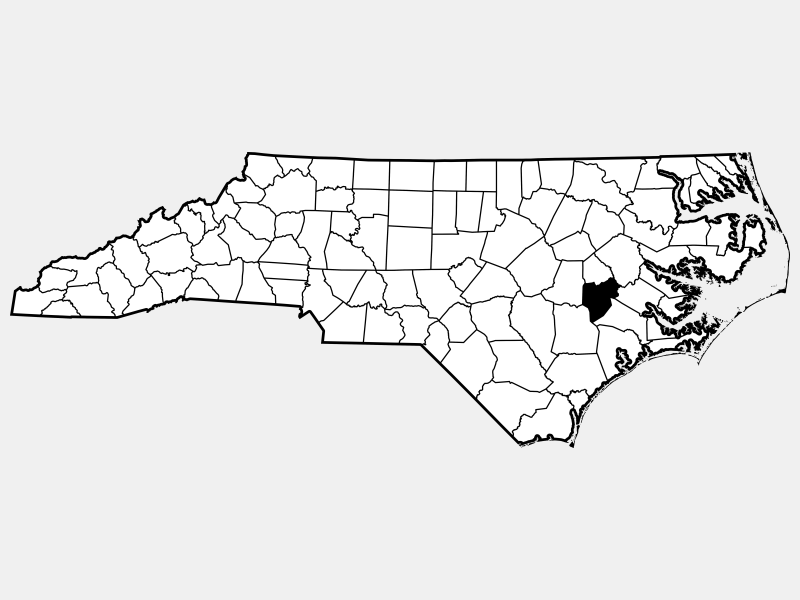 Lenoir County locator map