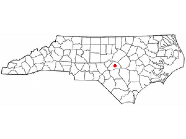 Lillington locator map