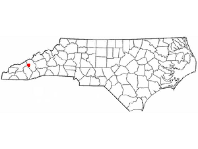 Maggie Valley locator map
