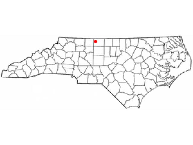 Mayodan locator map