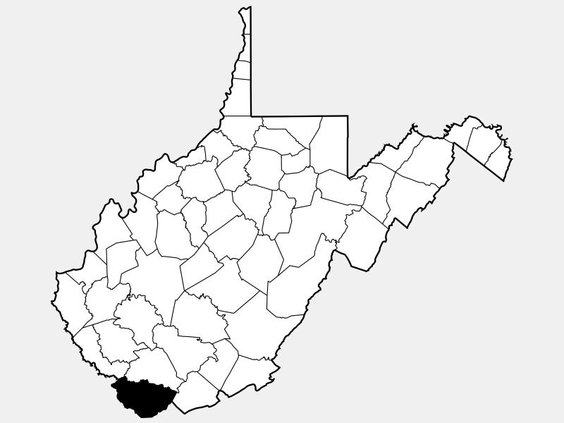 McDowell County locator map