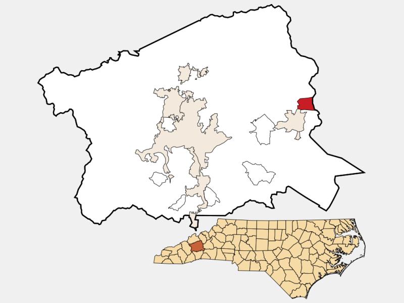 Montreat locator map
