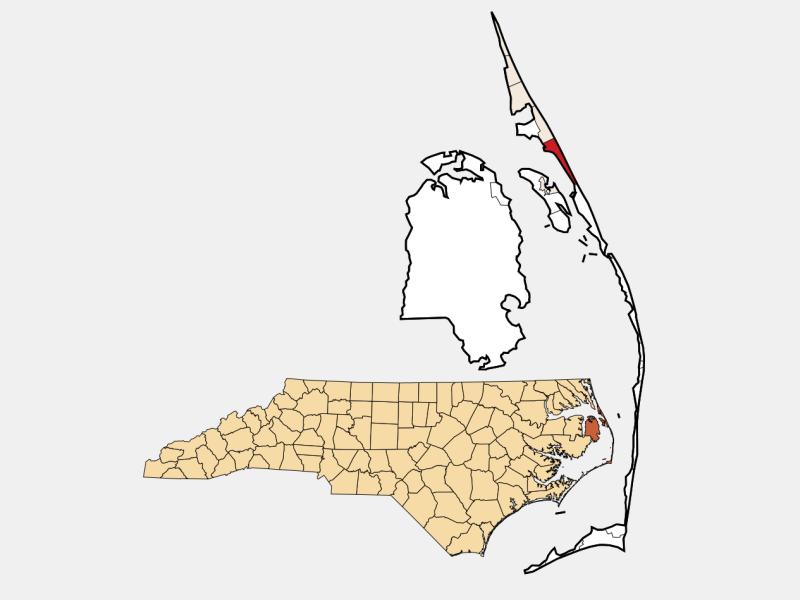Nags Head locator map