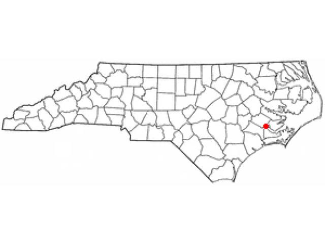 New Bern locator map