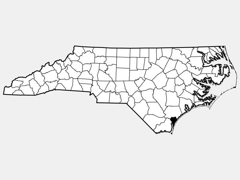 New Hanover County locator map