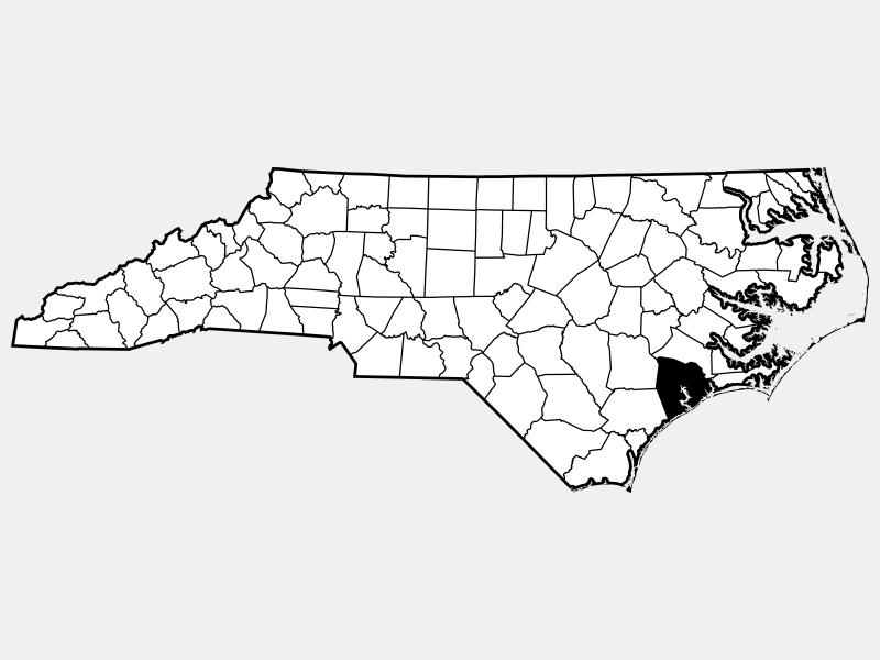 Onslow County locator map