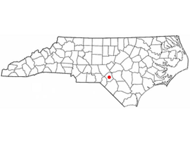 Raeford location map