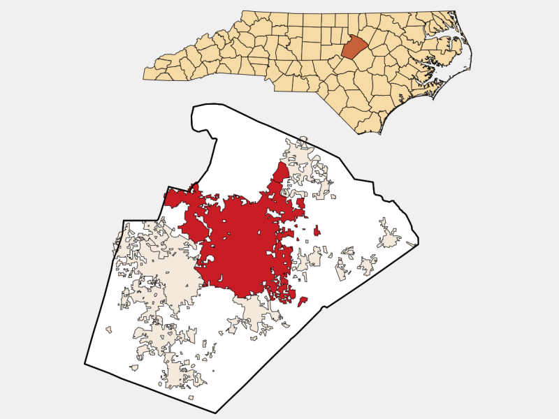 Raleigh locator map