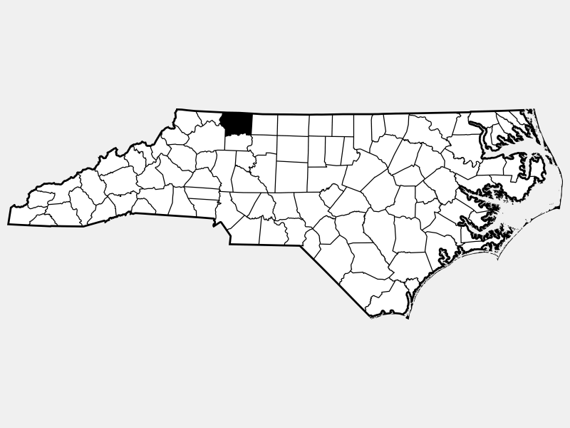 Surry County locator map