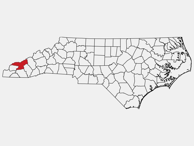 Swain County locator map