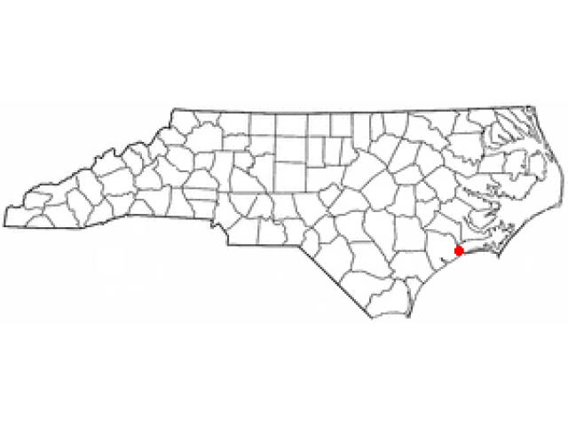 Swansboro locator map