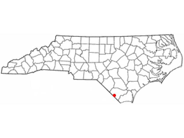Tabor City locator map