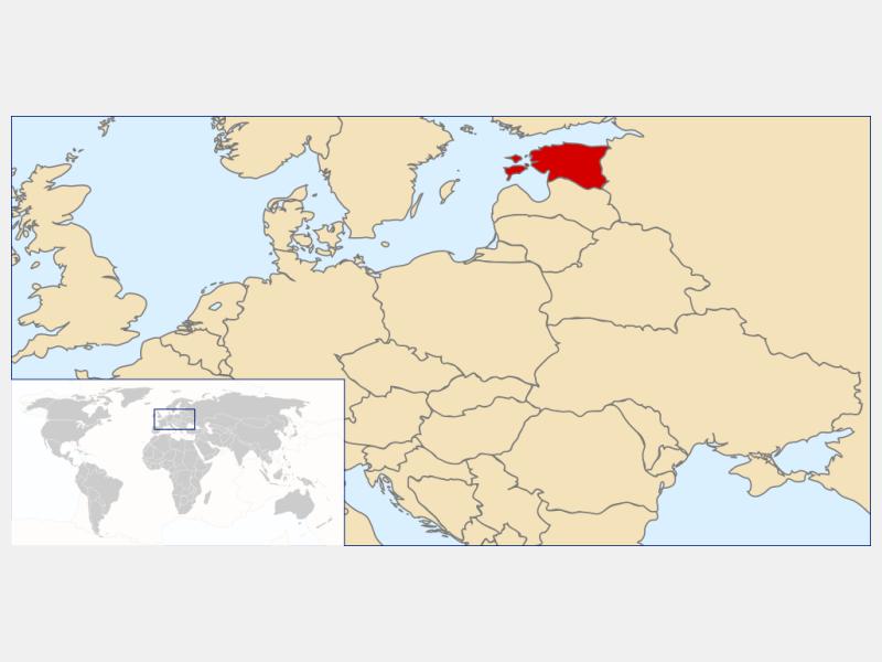 Republic of Estonia locator map