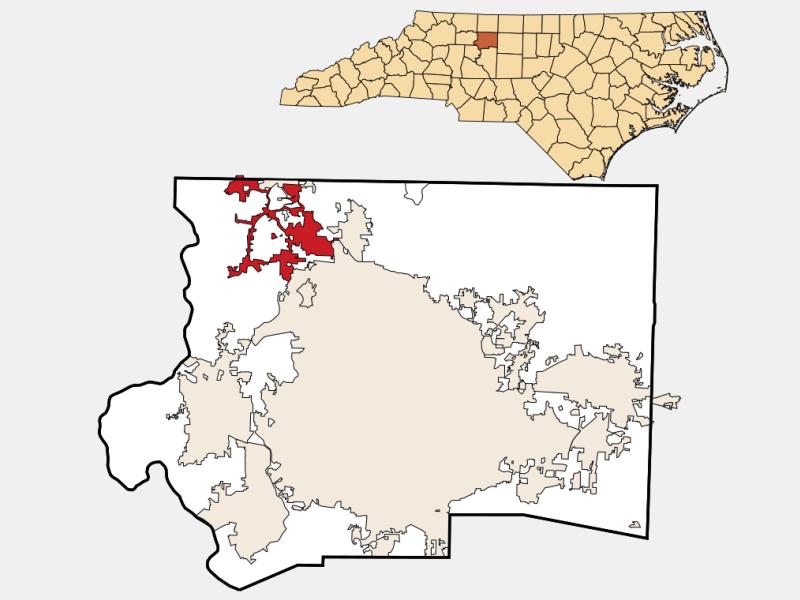 Tobaccoville locator map
