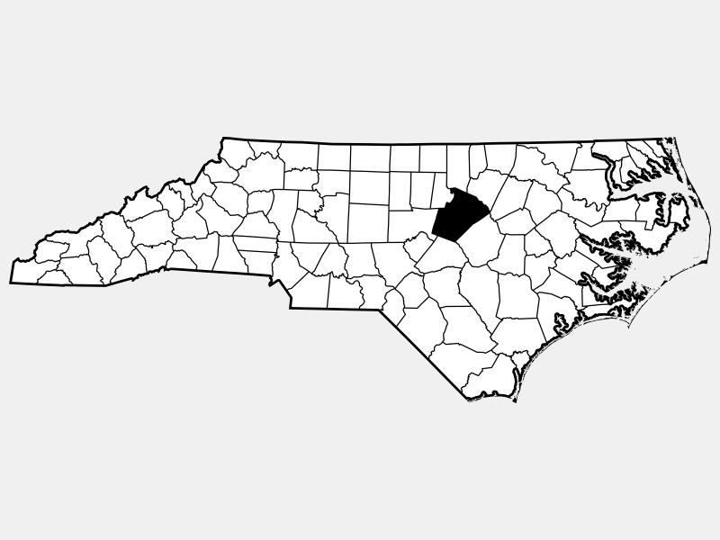Wake County locator map