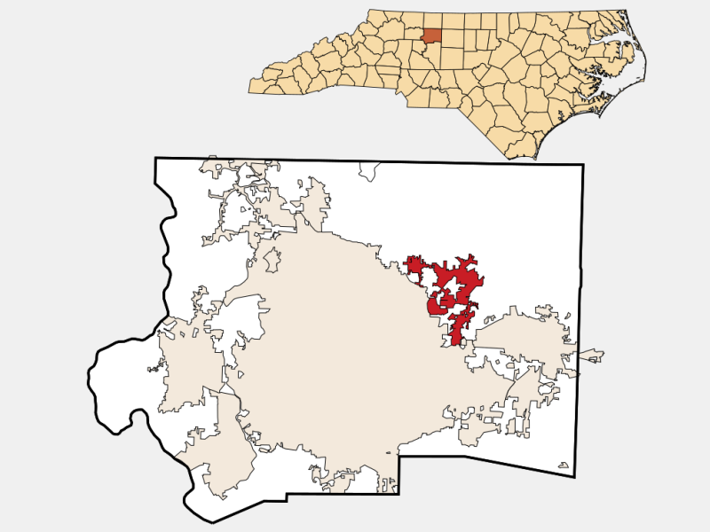 Walkertown locator map