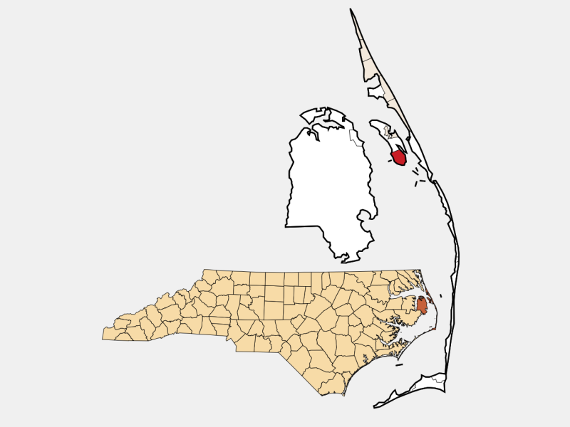 Wanchese locator map
