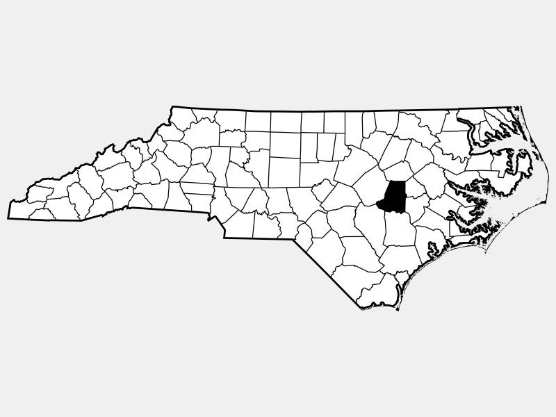 Wayne County locator map