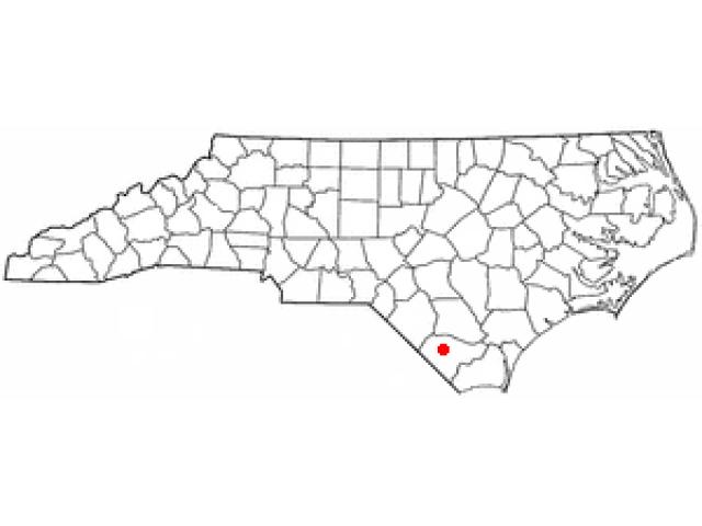 Whiteville locator map