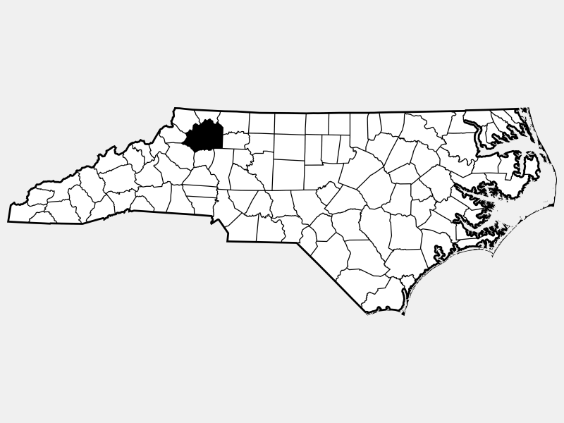 Wilkes County locator map