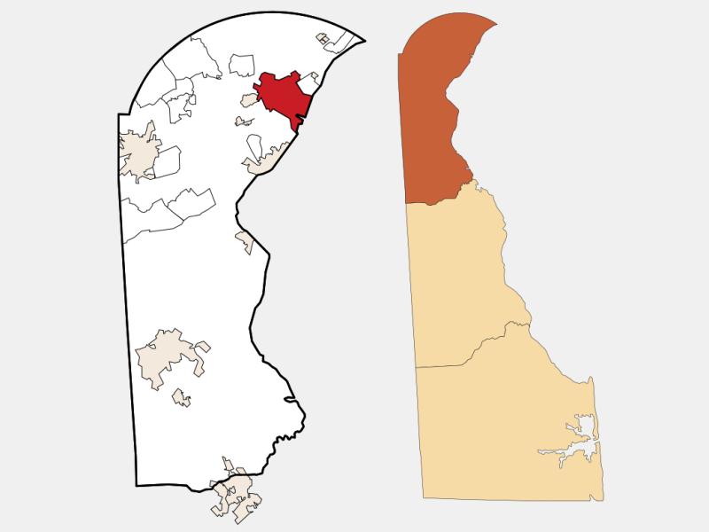 Wilmington locator map