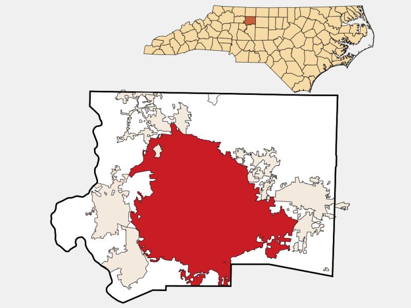 Winston-Salem locator map