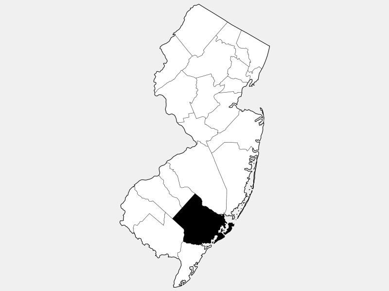 Atlantic County locator map