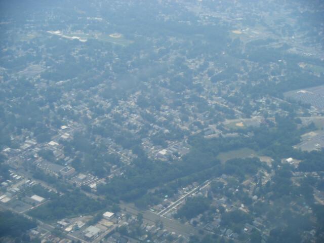 Audubon NJ from airplane image