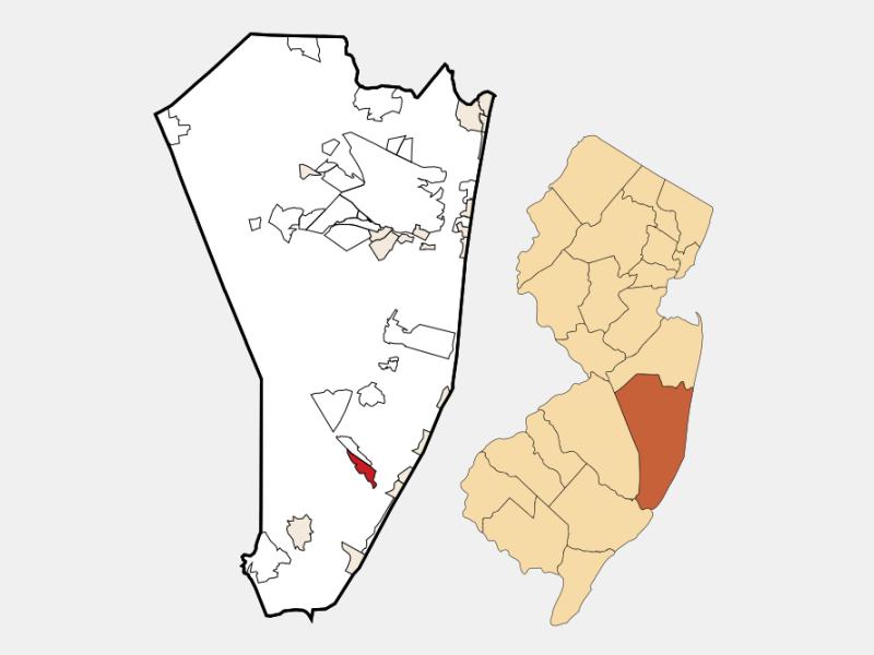 Beach Haven West locator map